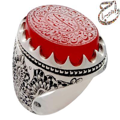 انگشتر عقیق یمنی خط صمد قلمزنی ساعی