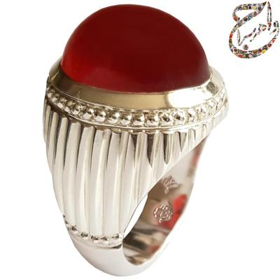 انگشتر عقیق سرخ پاک یمنی