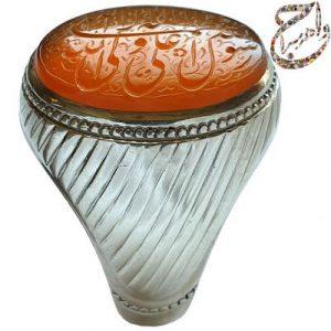 انگشتر عقیق یمنی حکاکی ذره رکاب استاد حاج حسین جدی