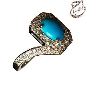 انگشتر فیروزه مصری زنانه