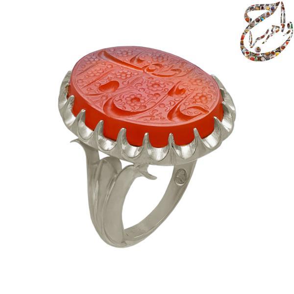 انگشتر عقیق سرخ یمنی دست ساز