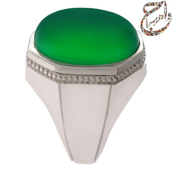 عقیق سبز کمنظیر معدنی رکاب دست ساز ابراهیمی