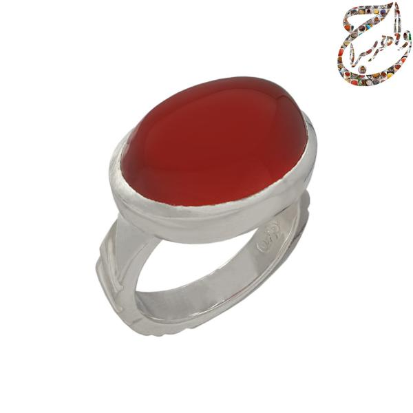 انگشتر عقیق سرخ رکاب دست ساز