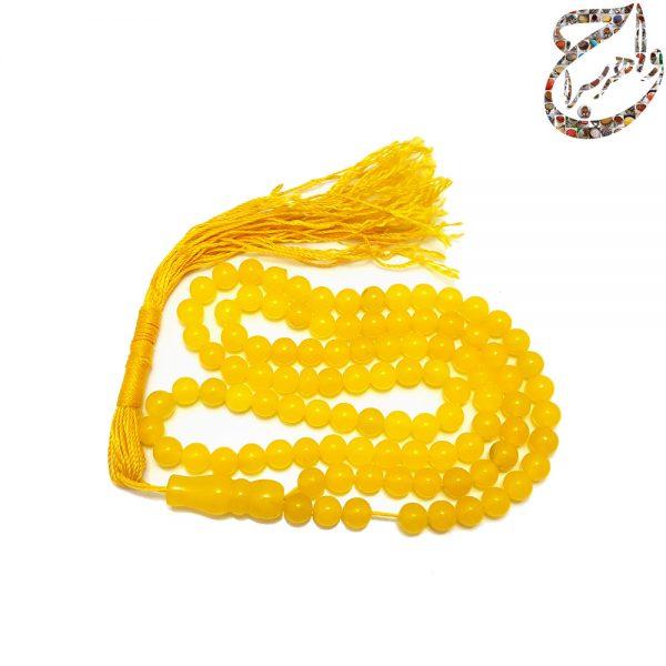 تسبیح عقیق زرد صد و یک دانه