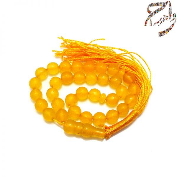 تسبیح عقیق زرد معدنی 33 عددی